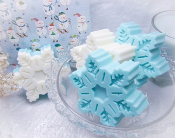 Glittering Snowflake Soap Set.  Set of 2 Gorgeous Snowflake Soaps.  Great Gift Idea!
