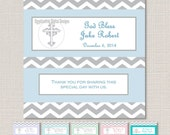 Full Size Candy Bar Wrappers - Baptism, First Communion, Confirmation, Cross, Christening - ANY COLOR - You Print