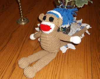 Sock Monkey Crocheted!