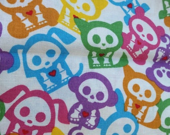 Skelanimals fabric