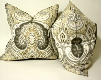 Kravet Latika in Limestone, Pillow Cover, Linen Pillow, Cushion, Toss Pillow
