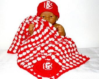 Baby Blanket Set, Boston Red Sox, Newborn, Baby Boy, Baby Girl, Red, White, Baby Shower Gift