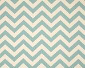 Premier Prints Zig Zag Village Blue/Natural 1 yard fabric