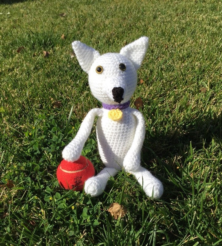 Amigurumi Pig Tail : Crochet Dog Amigurumi Dog White Dog German Shepherd