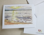 """East Bay From Elk Rapids,  Note Card, Print of Watercolor 4.25""""x5.5"""" with Envelope"""