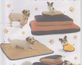 Dog Bed Pattern Pet Blanket Dog Coat 8 to 18 inches Uncut Simplicity 5219