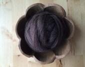 Wool roving supply for needle felting, Dark Brown Heather, 1/2 ounce or 1 ounce, wool supply for needle felting, brown roving, brown wool