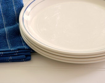 Vintage Biltons England Blue and White Ironstone or Earthenware Dinnerware Plate Collection. Wall Display. Country French Farmhouse Chic.