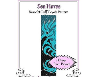 Bead Pattern Peyote(Bracelet Cuff)-Sea Horse