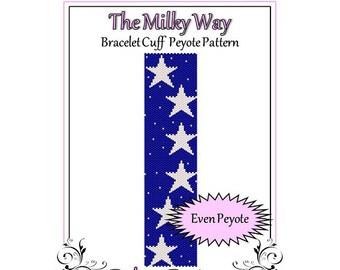 Bead Pattern Peyote(Bracelet Cuff)-The Milkyway