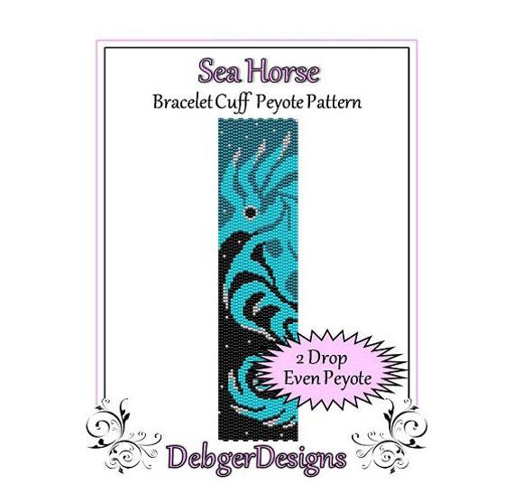 Bead Pattern Peyote(Bracelet Cuff)-Sea Horse