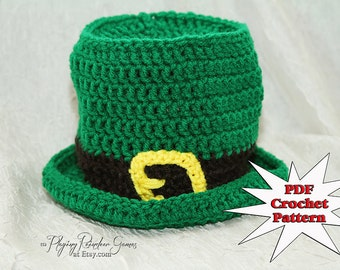 Crochet Pattern Leprechaun Hat : Popular items for crochet leprechaun on Etsy