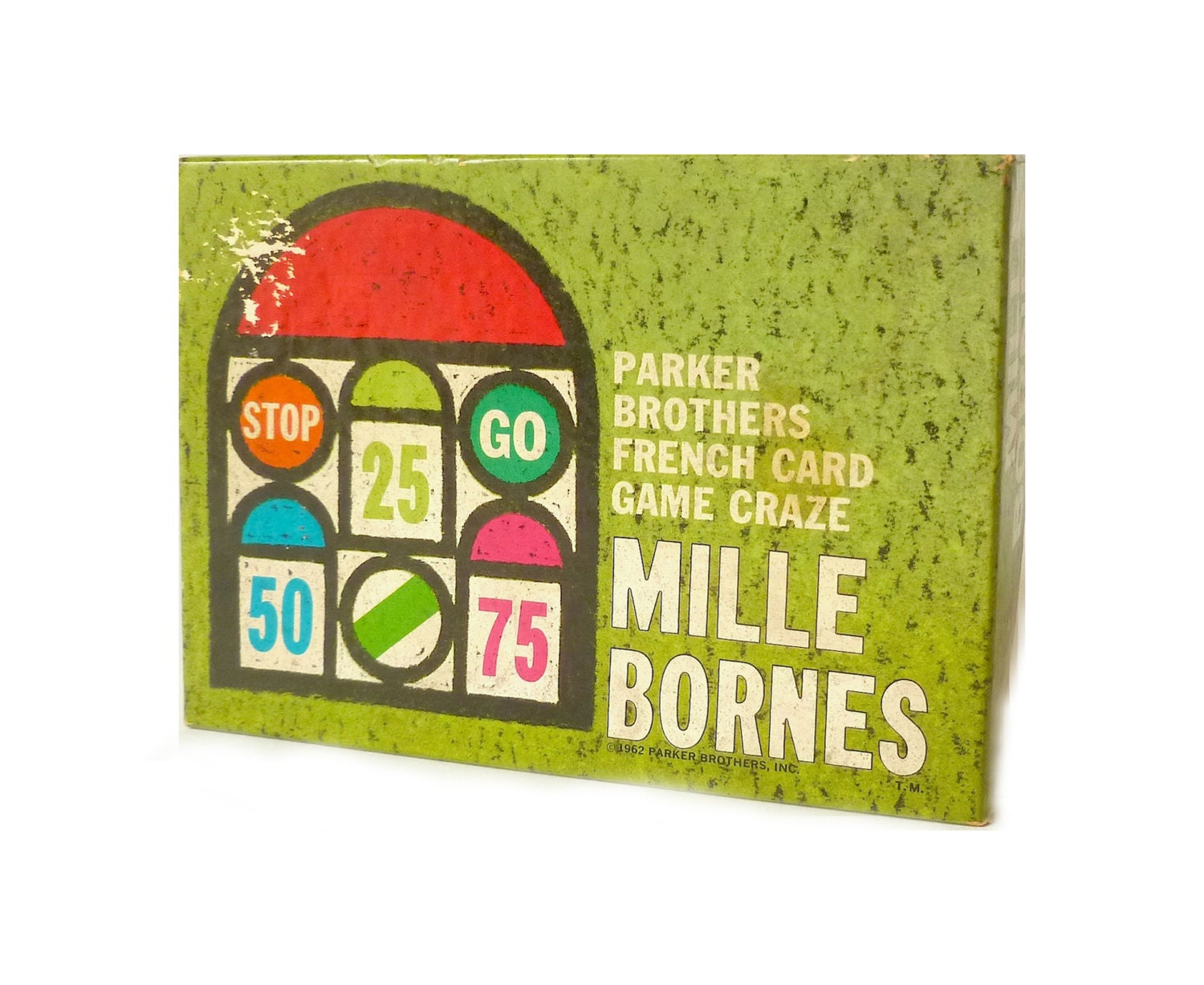 Vintage 1962 mille bornes french card game by for Dujardin 1000 bornes