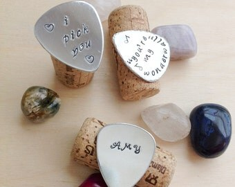 Personalized Guitar Pick - Hand Stamped Guitar Pick - Custom Guitar Pick - Guitar Pick - personalize guitar pick - music