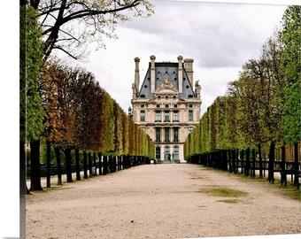 Paris Canvas Art - Jardin des Tuileries Print - Paris Wall Decor - Ready to Hang Art - Green Trees - French Decor - Paris Photography Louvre