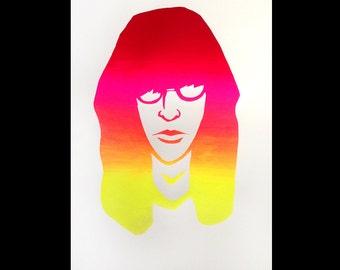 Stay Gabba Gabba Gold, Joey Ramone. Screen print