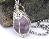 Fortune Teller Amethyst Crystal Ball Necklace