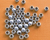 """35 Spacer Beads - Metal Silver 6mm Beads 1/4"""" - FD099"""