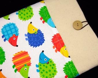 iPad Air case 2, iPad cover, iPad sleeve/ Samsung Galaxy Tab 3 10.1with 2 pockets, PADDED - Hedgehog