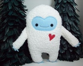 Yeti plush toy, abominable snowman monster stuffed toy, plush kawaii yeti doll, monster stuffed animal