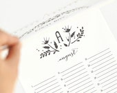 Rustic Wedding Guest Book Alternative, Perpetual Birthday Calendar, Personalized // WILDFLOWER WHIMSY