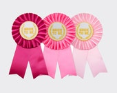Bride to Be Rosette Ribbon Badge for Bachelorette Party or Bridal Shower