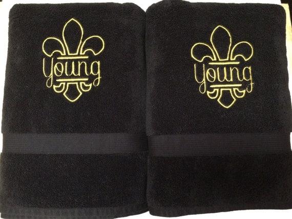 Items similar to fleur de lis bath towels hand towels on etsy - Fleur de lis bath towels ...