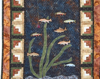 Gone Fishing Quilted Wall Hanging