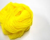 Vintage Knitting Yarn, Acrylic Nylon Blend, 3 Skeins Gem Yellow Yarn, Made in Mexico, Frosty Lux Yarn, Knitting Supplies, Y139
