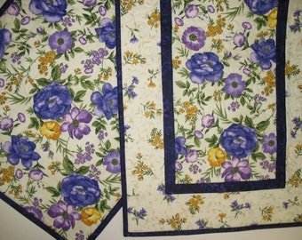 Spring Table Runner, Floral, quilted, Summer, table linens, fabric from Timeless Treasures SoHo