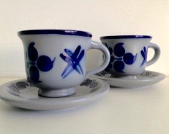 Marzi & Remy Blue Grey Stoneware Mugs