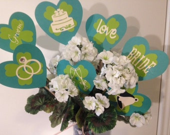 Hearts & Flowers Bridal Shower Table Decor