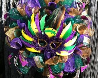 Mardi Gras Wreath. Mardi Gras, Mardi Gras Mask, Mardi Gras Decor