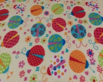 Lucky Ladybug Fleece Blanket