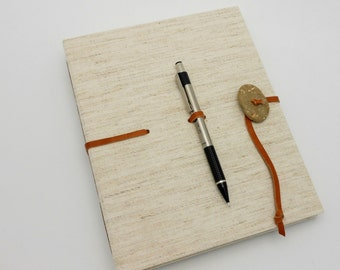 Hardcover Sketch Book - Natural Canvas with Beach Stone