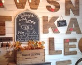 """140+ year old SALVAGED 18"""" wood factory flooring LETTER or NUMBER {this listing is for local pick up at the shop only}"""