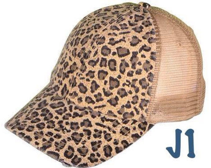 Cheetah Leopard Print Trucker Blank Womens Baseball Cap
