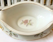 RESERVED FOR SIMS Gravy Boat Attached Underplate Seyei Fine China Peony Pattern Table Setting #2104