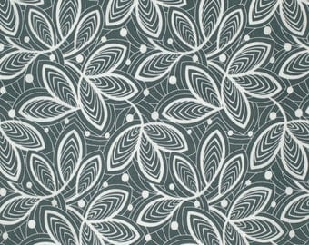 Leaf Lines in Mineral  PWAB142 - VIOLETTE by Amy Butler - Free Spirit Fabric - 1 Yard