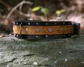 Leather Dog Collar With Solid Brass reserved for Jonathan Townsley