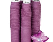 "Grape - Fold Over Elastic - Solid FOE - 5/8"" Wide - 5 Wholesale Yards"