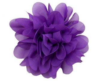Allison Purple Chiffon Flower