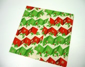 Vintage Christmas Gift Wrap Merry Christmas Holly Full Sheet for Mid Century Wrapping Paper Retro Holiday Crafts Altered Art