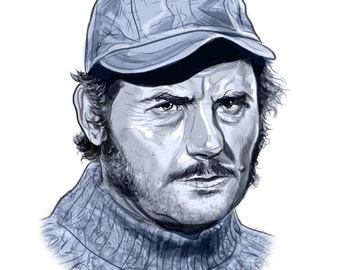 Quint from JAWS gilcée print