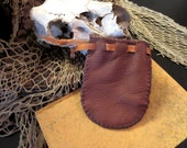 Drawstring Leather Coin Purse / Pouch / Dice Bag - Hand Sewn - Medieval/Fantasy/Renaissance/Pirate/SCA/Steampunk