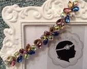 Bejeweled trim headband, Baby headband, newborn headband, trim headband, adult headband, and photo prop headband