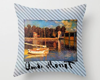 Claude Monet Pillow Fabric