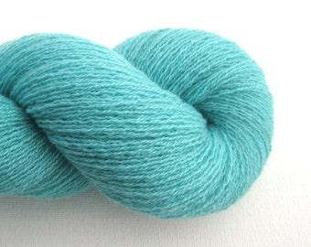 Lace Weight Cashmere Recycled Yarn, Aquamarine, 630 Yards, Lot 010215