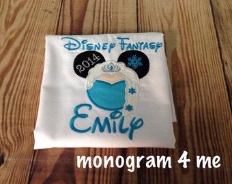 Elsa Cruise Autograph pillowcase, disney cruise, character autograph pillowcase