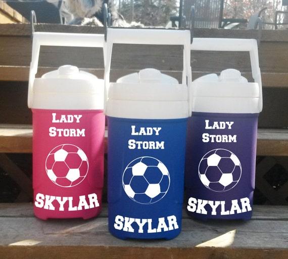 Soccer - Igloo half gallon water jugs WITH cage hooks - baseball, softball, soccer, football